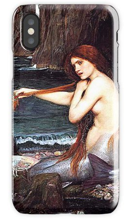 """Mermaid On The Shore "" iPhone Cases & Covers by BlackStarGirl 