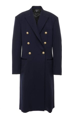 Balmain Double-Breasted Cady Coat