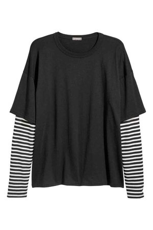 Black Double Sleeved Shirt