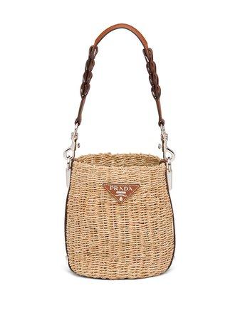 Prada Woven Bucket Bag - Farfetch