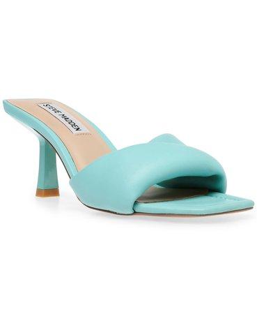 Turquoise Steve Madden Women's Thai Padded Mid-Heel Mules & Reviews - Mules & Slides - Shoes - Macy's