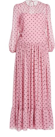 Red Valentino Polka Dot Maxi Dress
