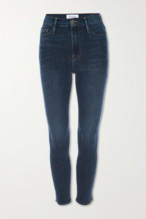 Dark denim Ali high-rise skinny jeans | FRAME | NET-A-PORTER