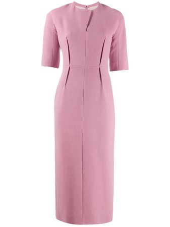 Emilia Wickstead Straight Fit Midi Dress Aw19 | Farfetch.com