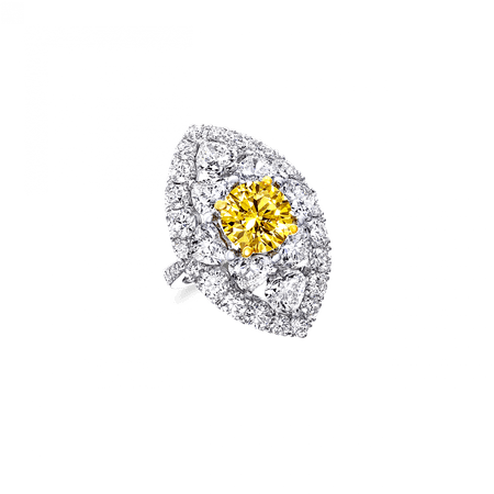 Yellow and White Diamond Ring | Graff