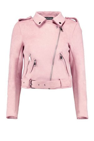 Rebecca Suedette Biker Jacket | Boohoo UK