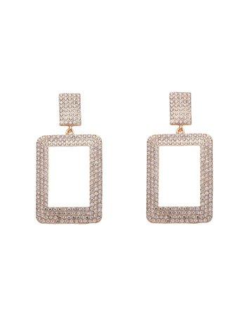8 By Yoox Rhinestone Geometric Earrings - Earrings - Women 8 By Yoox Earrings online on YOOX United Kingdom - 50246727AX