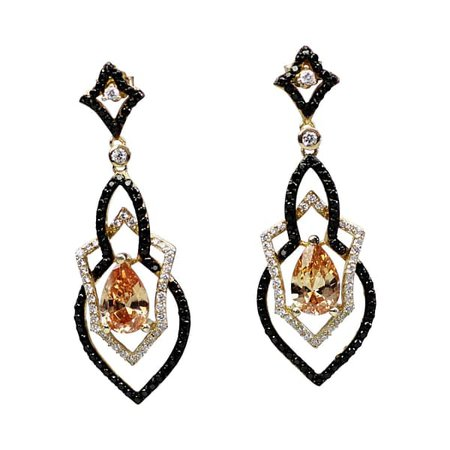Champagne Amare Earrings | Bellus Domina | Wolf & Badger