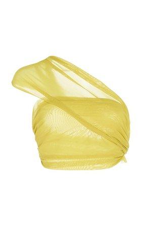 Asymmetric Tulle Wrap Top by Supriya Lele | Moda Operandi