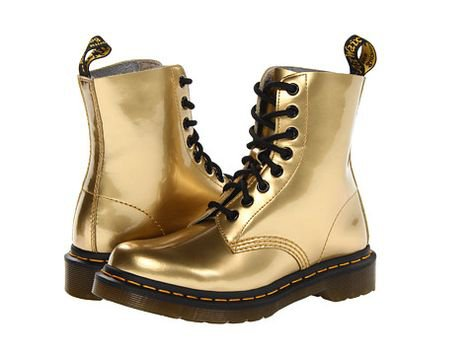 Doc Martins Pascal Gold Boots