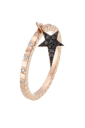 18kt Rose Gold Ring with Diamonds Gr. 6