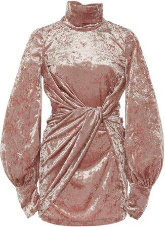 Redemption Drape Neck & Cuff Mini Dress