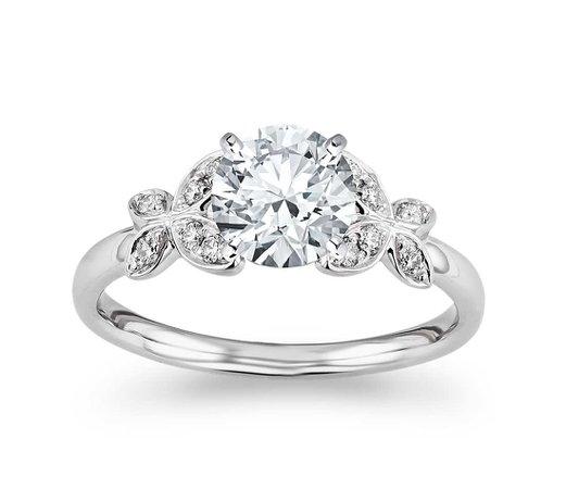 Blue Nile Women's Monique Lhuillier Butterfly Diamond Engagement Ring