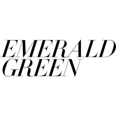 Emerald Green text