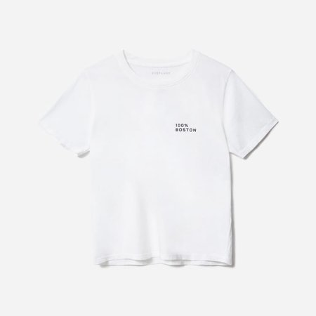 Women's 100% Boston Cotton Box-Cut Tee | Everlane white