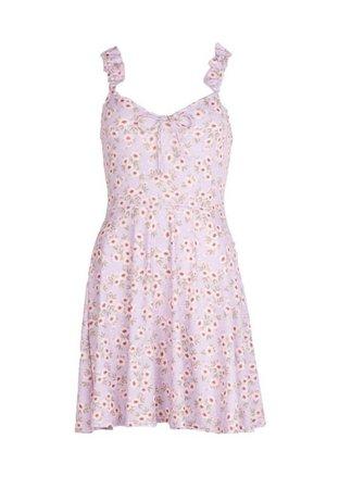 Ruffle Strap Tie Detail Skater Dress | boohoo