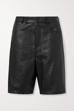 Deadwood - Boi Leather Shorts - Black