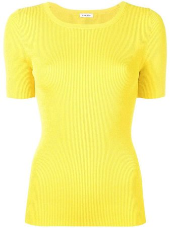 ribbed knitted top