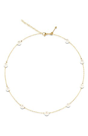 Ellie Vail Yvette Imitation Pearl Necklace | Nordstrom