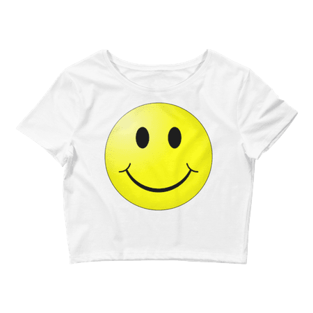 Smiley Face Women's Crop Tee · TheWayClothing · Online Store Powered by Storenvy