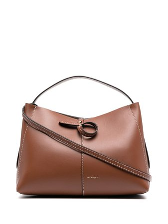 Shop brown Wandler logo stamp tote bag with Express Delivery - Farfetch