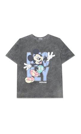 Oversized Mickey T-shirt - Women's Just in   Stradivarius United States
