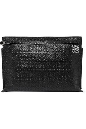 Loewe | T embossed leather pouch | NET-A-PORTER.COM