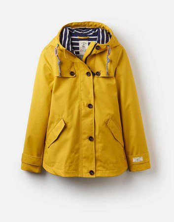 Coast ANTIQUE GOLD Waterproof Jacket | Joules UK