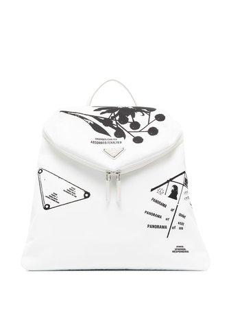Prada Signaux Nylon Backpack - Farfetch
