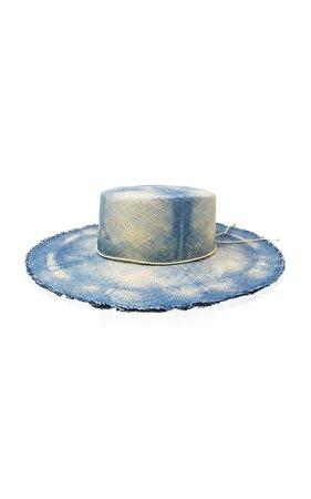 Cordovez Tie-Dyed Straw Hat by Sensi Studio | Moda Operandi
