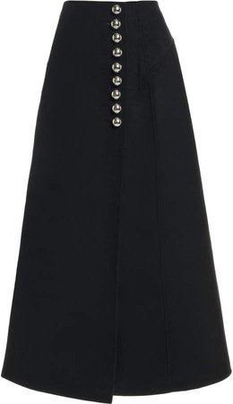 Paco Rabanne High-Rise Cady Pencil Skirt