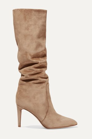 Camel 85 suede knee boots | Gianvito Rossi | NET-A-PORTER