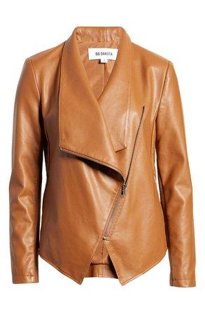 BB Dakota Gabrielle Faux Leather Asymmetrical Jacket | Nordstrom