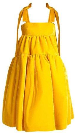 Cecilie Bahnsen - Bey Velvet Dress - Womens - Yellow