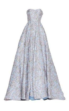 Brocade Bustier Ball Gown by Luisa Beccaria | Moda Operandi