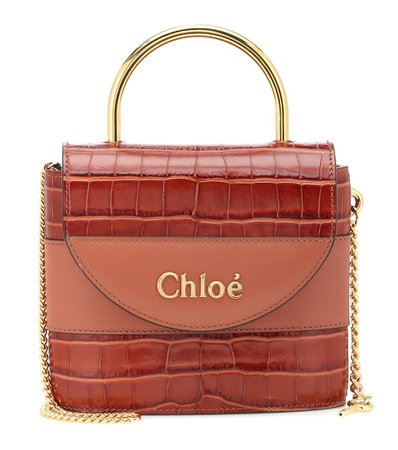 Aby Lock Small Leather Shoulder Bag - Chloé | Mytheresa