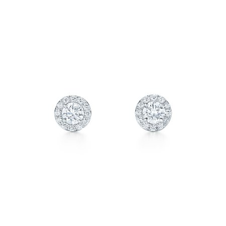 Tiffany & Co, Tiffany Soleste earrings in platinum with diamonds