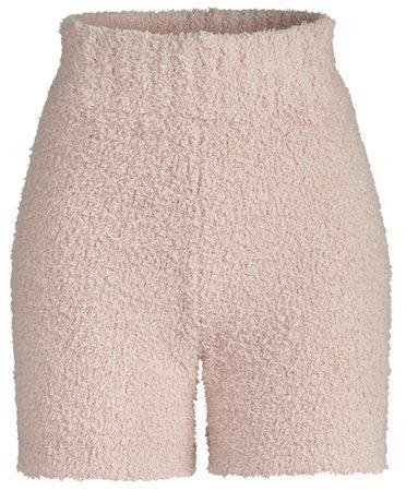 SKIMS Pink Knit Shorts
