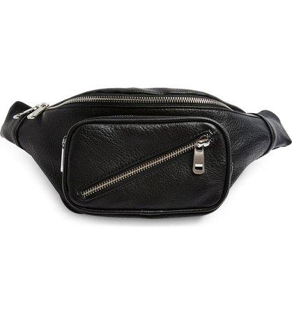 Topshop Diagonal Zip Belt Bag   Nordstrom
