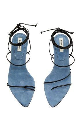 Odd Pair Two-Tone Suede Sandals by Reike Nen | Moda Operandi