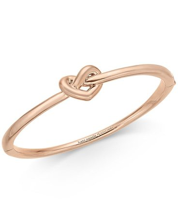 kate spade new york Gold-Tone, Silver-Tone or Rose-Gold Tone Love Me Knot Bangle Bracelet & Reviews - Bracelets - Jewelry & Watches - Macy's