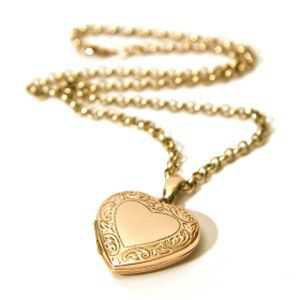 gold herat necklace