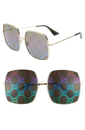 Gucci 60mm Square Sunglasses | Nordstrom