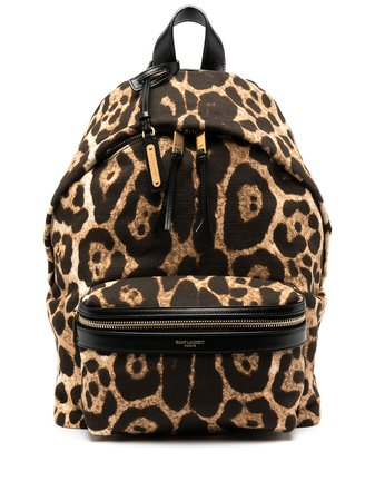 Saint Laurent leopard-print backpack