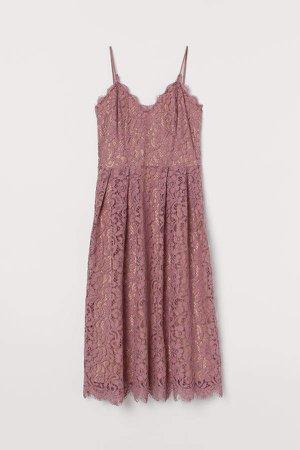 H&M+ Lace Dress - Pink