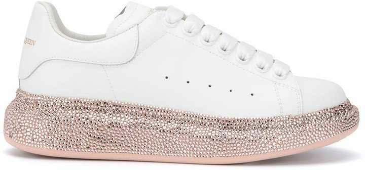 Oversized crystal sole sneakers