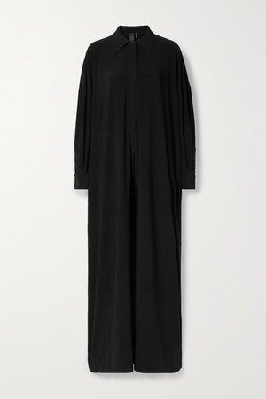 Stretch-jersey Jumpsuit - Black