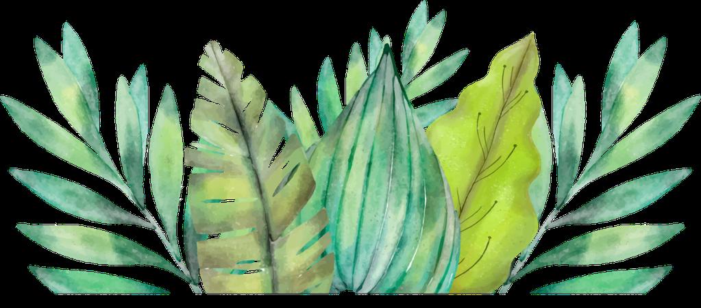 tropical leaf filler