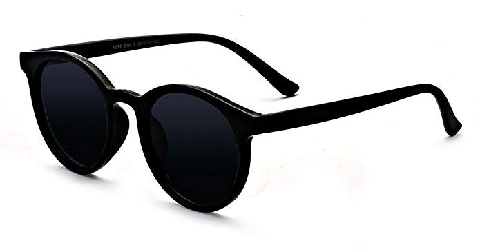Amazon.com: Kelens Adult Grad School Round Sunglasses for Women Girls and Men Black: Clothing