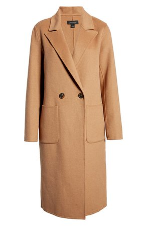 Halogen® Double Face Wool Coat | Nordstrom